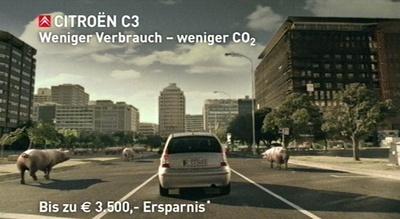 Citroën-Werbung: Weniger Verbrauch, weniger Kohlendioxid