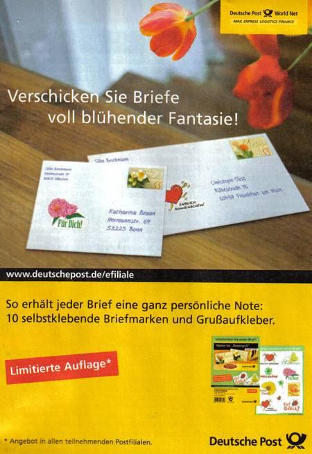Werbung der Deutsche Post World Net