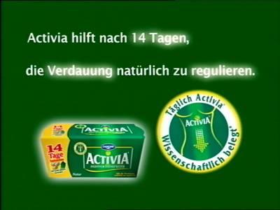 Activia hilft nach 14 Tagen, die Verdauung natürlich zu regulieren