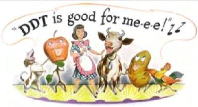 Alte Werbung für DDT
