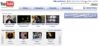 ...und so sieht zum Vergleich YouTube aus. Na, irgendeine Ähnlichkeit entdeckt?
