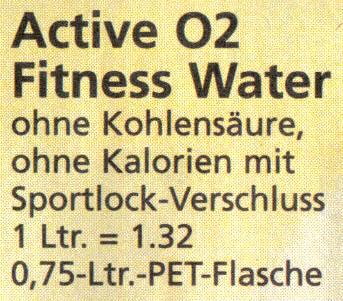 Active O2 Fitness Water - ohne Kohlensäure, ohne Kalorien, mit Sportlock-Verschluss