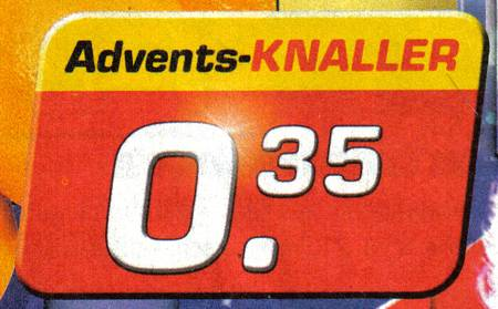 Advents-Knaller 0,35