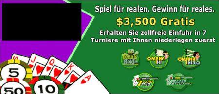 Spiel für realen. Gewinn für reales. $3,500 Gratis -- Erhalten Sie zollfreie Einfuhr in 7 Turniere mit Ihnen niederlegen zuerst.