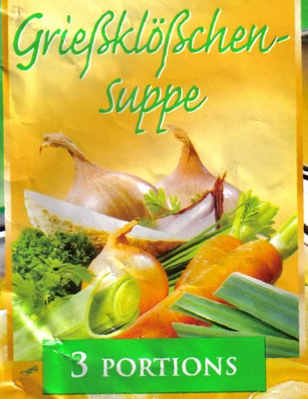 Grießklößchensuppe, 3 Portions