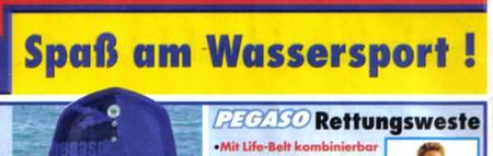 Spaß am Wassersport - Rettungsweste - Mit Life-Belt kombinierbar...