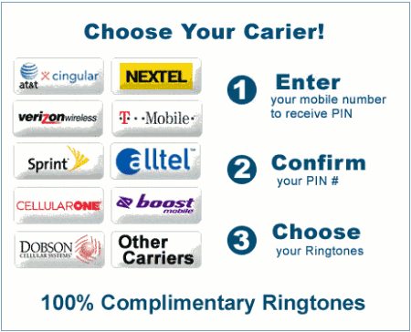 Choose Your Carier! Ringtones.
