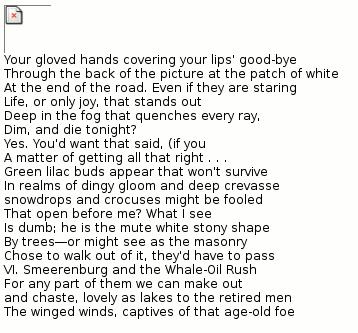 Etwas Lyrik in englischer Sprache