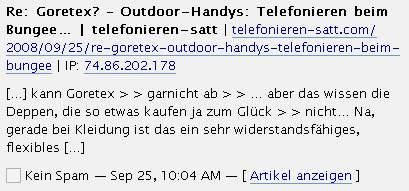 Goretex? - Outdoor-Handys: Telefonieren beim Bungee...