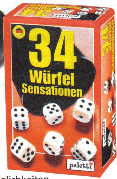 Verpackung: 34 Würfel Sensationen