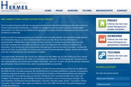 Screenshot der mit SEO-Spam beworbenen Website von Hermes Waschanlagen, zum Vergrößern klicken