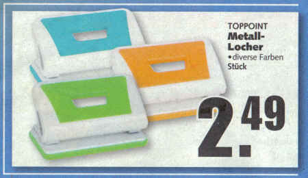 Toppoint - Metall-Locher - diverse Farben - Stück 2,49