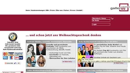 Screenshot der kommerziellen Website eines deutschen Spammers
