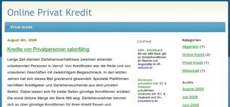 Online Privat Kredit