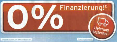 0% Finanzierung - Lieferung kostenlos