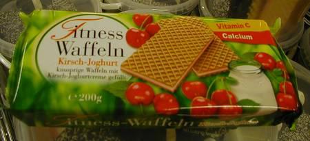 Fitness-Waffeln - Kirsch-Joghurt - knusprige Waffeln mit Kirsch-Joghurtcreme gefüllt -- Vitamin C - Calcium