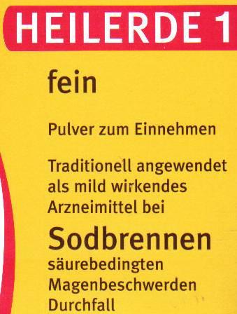 Heilerde 1 - fein - Pulver zum Einnehmen - Traditionell angewendet als mild wirkende Arzneimittel bei Sodbrennen, säurebedingten Magenbeschwerden, Durchfall