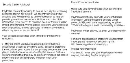 Eine gut formatierte Phishing-Mail mit sinnvollem Text