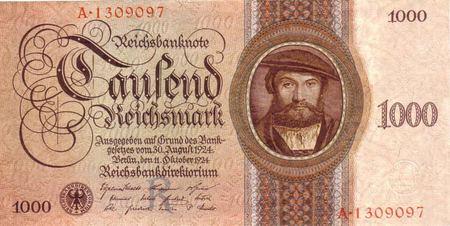 Reichsbanknote: Tausend Reichsmark