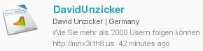 DavidUnzicker Wie Sie mehr als 2000 Usern folgen können