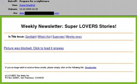 Prepare for a nightmare - Weekly Newsletter: Super LOVERS Stories! - Picture was blocked. Click to load it anyway.