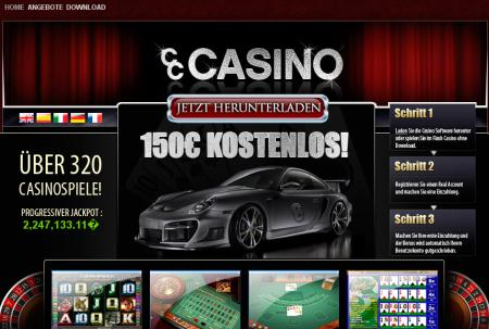 Screenshot des angeblichen Casinos