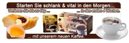 Starten Sie schlank & vital in den Morgen... verlieren sie bis zu 6kg in den ersten vier Wochen... mit unserem neuen Kaffee. Lose Weight Coffee