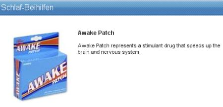 Schlaf-Beihilfen - Awake Patch, Awake Patch represents a stimulant drug that speeds up the brain and the nervous system