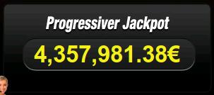 Progressive Jackpot 4,357,981.38€
