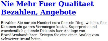 Nie Mehr Fuer Qualitaet Bezahlen, Angebote -- Bezahlen Sie nur ein Hundert euro fuer ein Ding, welches fuer Kanonen ein ganzes Vermoegen kostet. Superpreise und woechentlich geltende Diskonts fuer Analoge von BrandArmbanduhren. Kriegen Sie eine einen Analog vom Schweizer Brand heute.