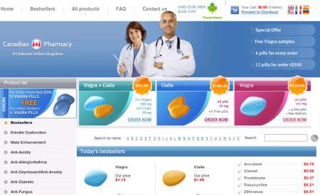 Screenshot der betrügerischen Masche Canadian Pharmacy