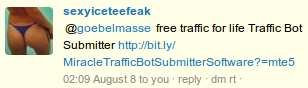sexyiceteafeak -- @goebelmasse free traffic for life Bot Submitter [URL]