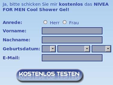 Screenshot der Dateneingabe, erster Schritt