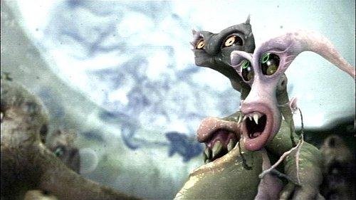 Screenshot aus dem Werbefernsehen: 'Lebewesen' in der Toilette