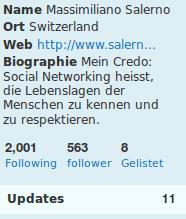 Detail mit Biographie -- Mein Credo: Social Networking heisst, die Lebenslagen der Menschen zu kennen und zu respektieren.