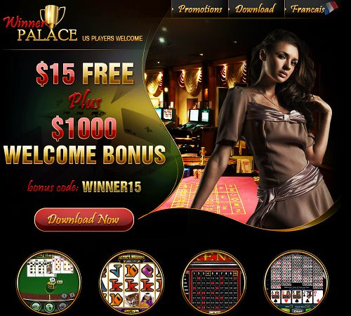 Screenshot der betrügerischen Casino-Website 'Winner Palace'
