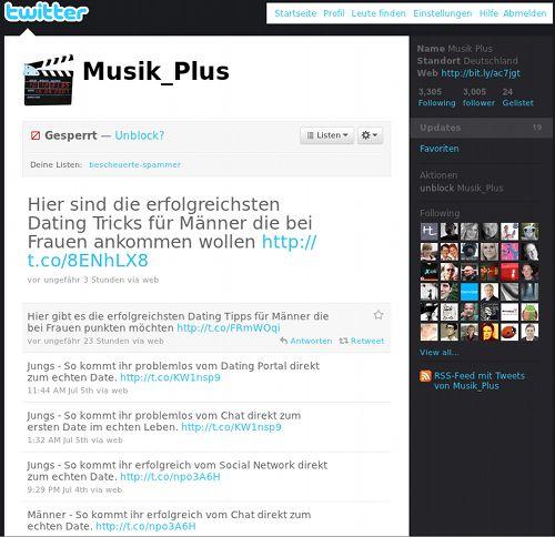 Screenshot von @Musik_Plus: Dating Dating Dating Dating Dating Dating Dating