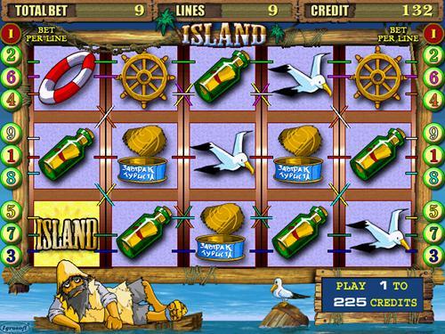 Screenshot einer modernen Slotmaschine