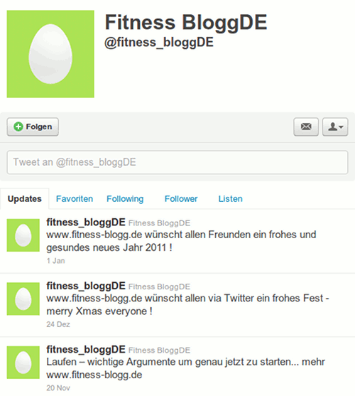 Screenshot der Timeline von @fitness_bloggDE