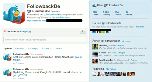 Screenshot des Profils von @FollowbackDe