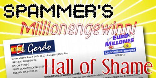 Spammer's Hall of Shame: Millionengewinn