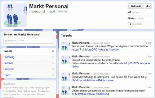 Screenshot des Twitterprofiles des Followspammers @personal_markt