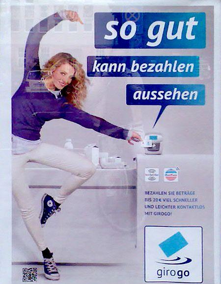 so gut kann bezahlen aussehen - Bezahlen sie Beträge bis 20 Euro viel schneller und leichter kontaktlos mit girogo!