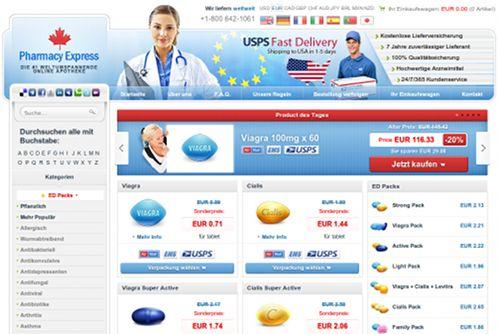 Screenshot der betrügerischen Casinosite -- oops! Das ist ja eine Pimmelpillen-Apotheke der Marke Canadian Pharmacy