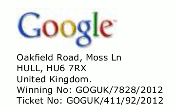 Detail mit dem Google-Logo aus dem betrügerischen PDF