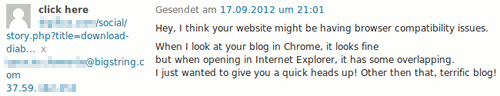 Screenshot aus der WordPress-Kommentarmoderation