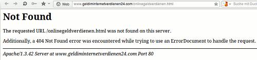 HTTP-Fehler 404