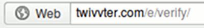 Detail mit der URL der Phishing-Seite