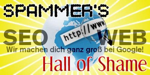 Spammer's Hall of Shame: SEOweb -- Wir machen dich ganz groß bei Google!