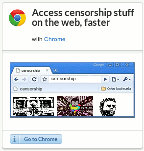 Access censorship stuff on the web, faster